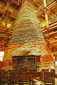 Wilderness Lodge Fireplace   Flickr - Photo Sharing!