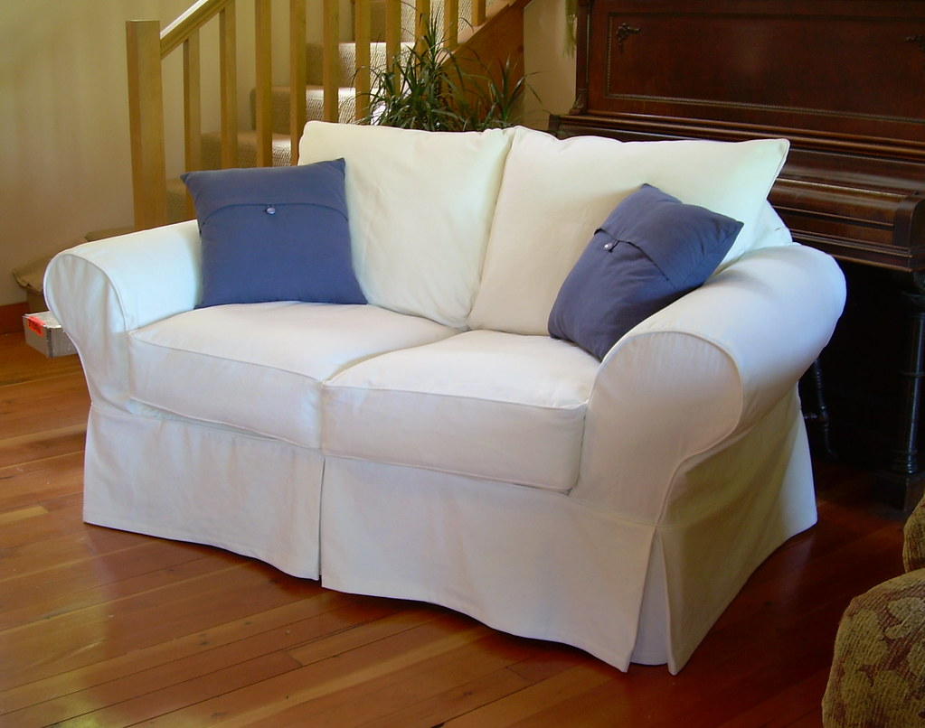 white sofa slipcover cotton ashley durablend reclining loveseat robin 39s after