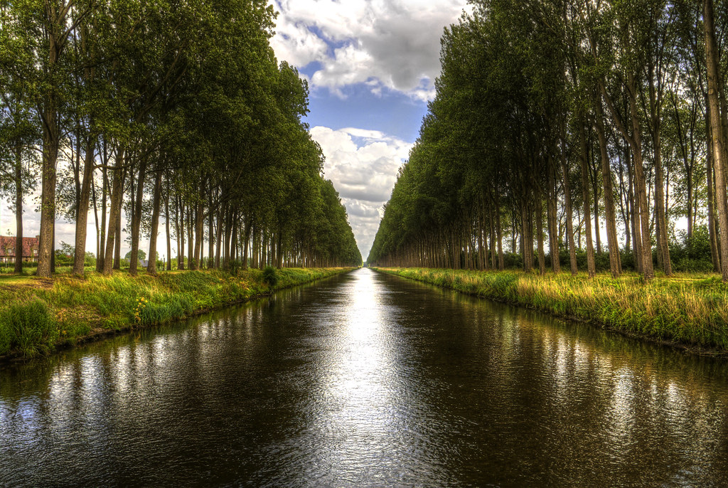 A canal near Damme Belgium  Just as Bryan was
