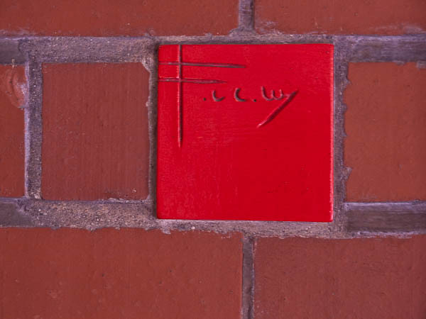 Red Tile Frank Lloyd Wrights Signature  Johnson Wax