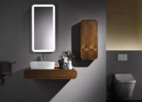 Contemporary Dark Walnut Bathroom Furniture by Toto  Flickr