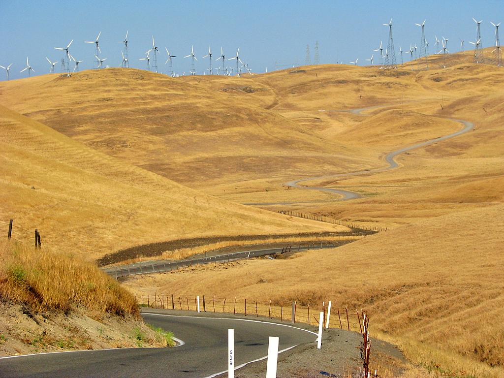 3d World Wallpaper World Altamont Pass Windmills Near Patterson Pass Road Steve