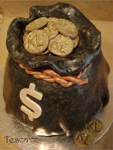 money bag cake  Chocolate cream cheese cake filled with cho  Flickr