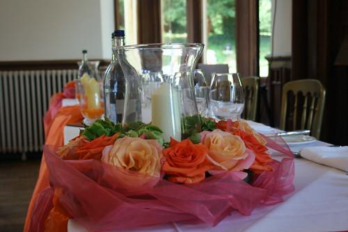 Top Table wedding decoration Orange  Coral Wedding Theme