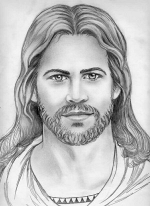jesus drawing pencil drawings flickr charcoal drawn cliparts christ face woodburning library clipart church