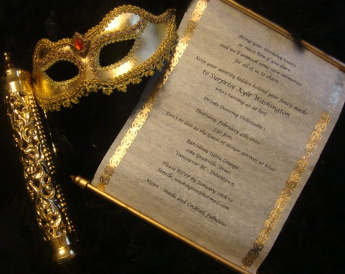 Scroll Invitations with Masquerade Mask  Jenny Moore  Flickr