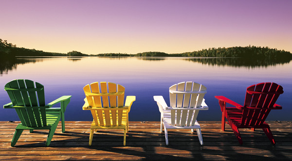 muskoka chairs at Severn Lodge  Severn LodgeOntario is