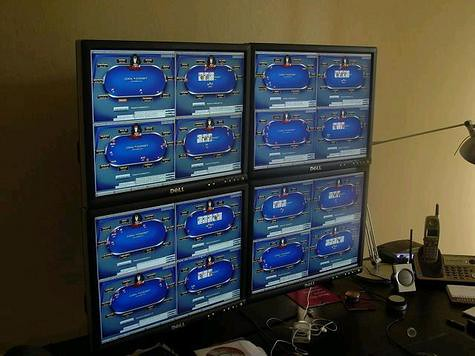 Quad Monitor Array Poker  When you first start playing