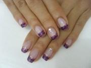 animal print french gel nail
