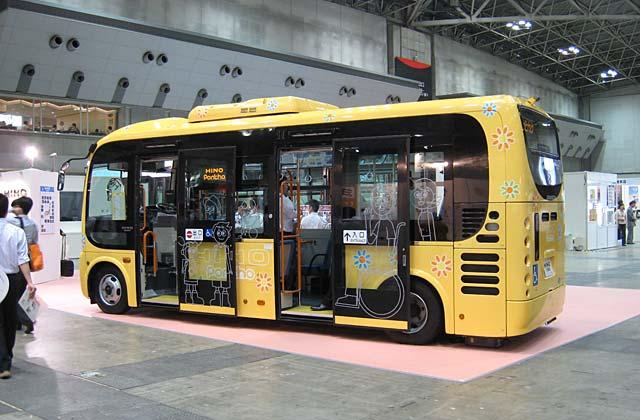 Hino Poncho minibus  Hino Poncho is a nonstep lowfloor