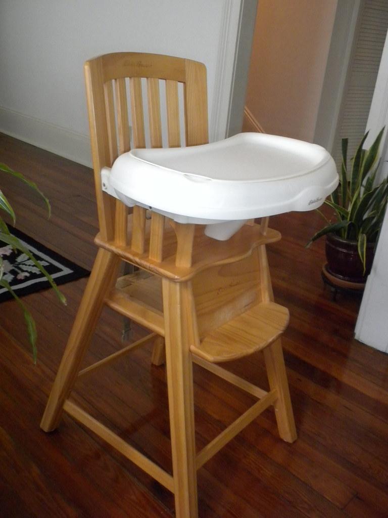 Eddie Bauer Wood Highchair  Sturdy wood high chair from