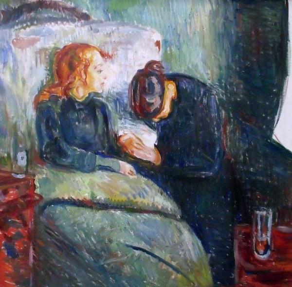 Edvard Munch L'enfant Malade Huile Sur Toile Thielska