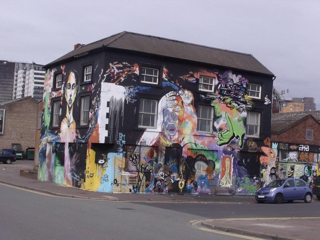 Painted House Street Art Corner Of Fazeley Street An