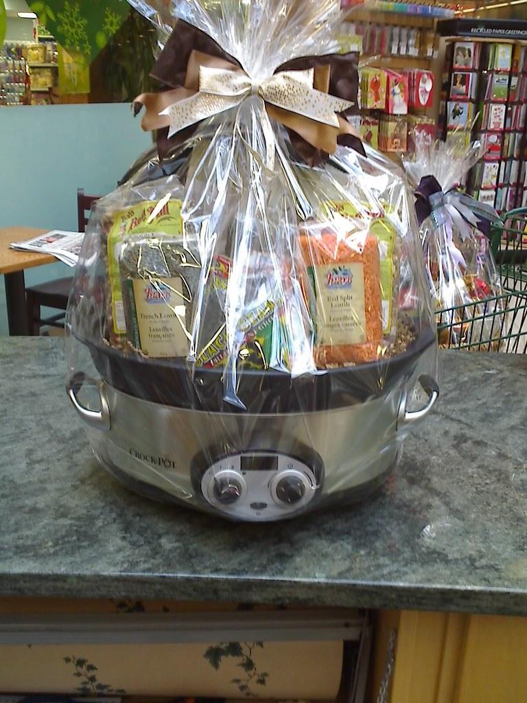 Gift basket  One time I made a gift basket inside a crock   Flickr