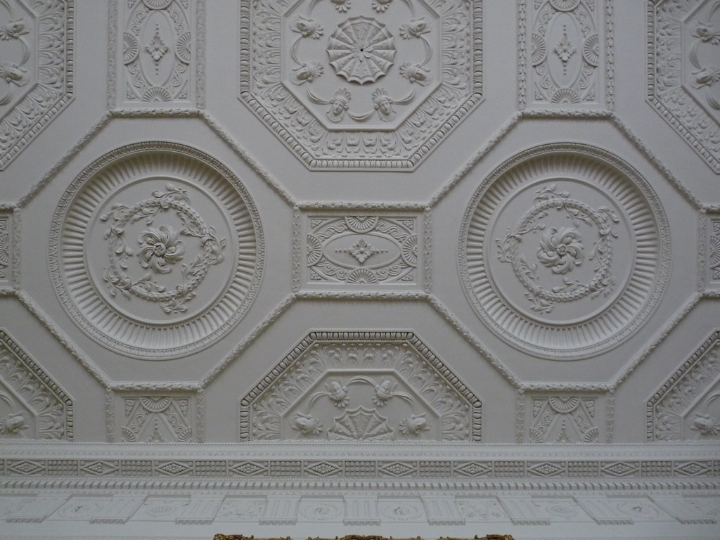 neoclassical ceiling in the Library at Kedleston Hall  Flickr