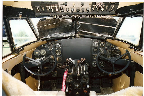 Lockheed 18 Lodestar cockpit This was always a civil airc