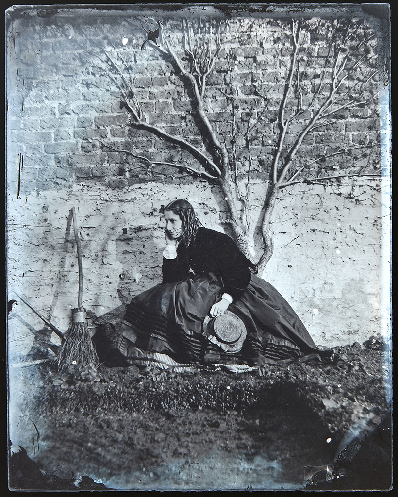 Beautiful Early 1860s Wet Plate Collodion Portrait Of Lady