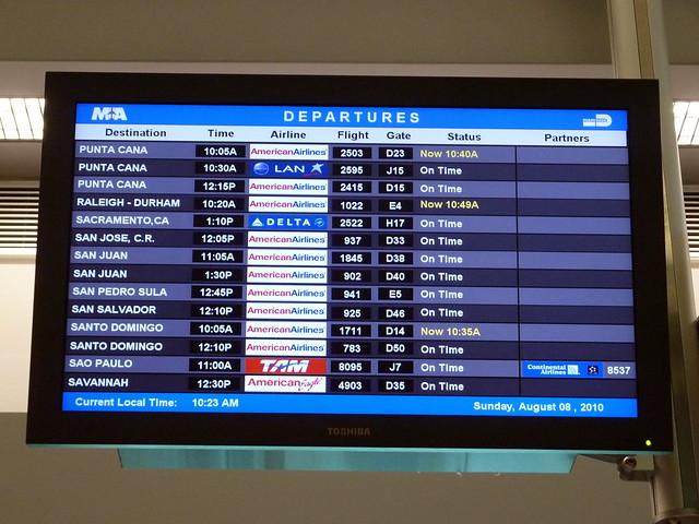 Miami Airport Screen  Flickr  Photo Sharing