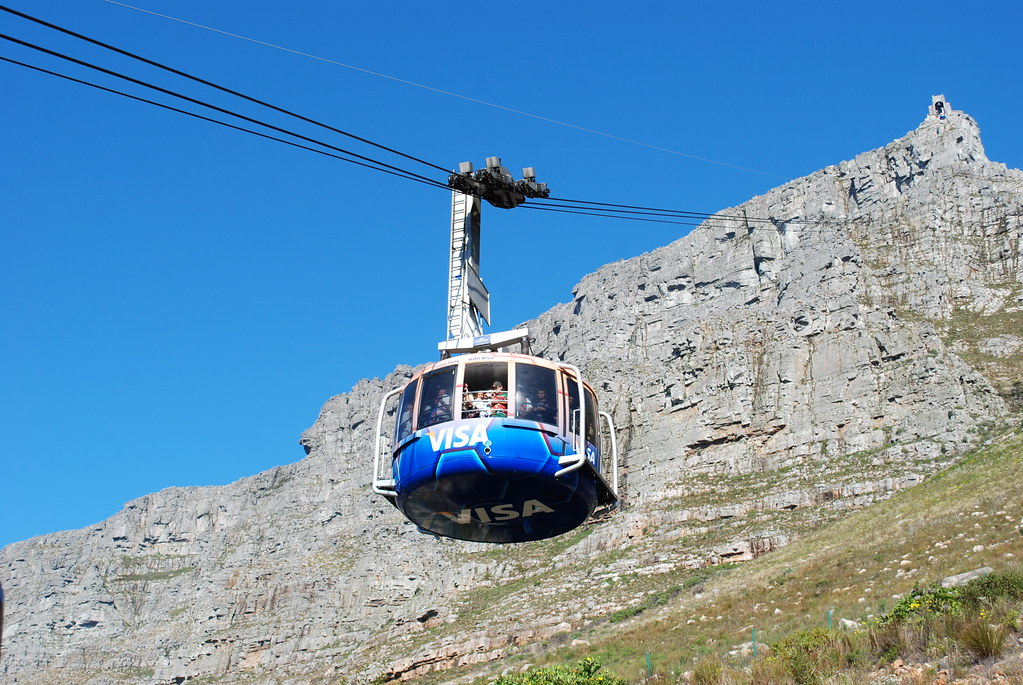 3d Wallpaper South Africa Table Mountain Aerial Cable Car Table Mountain Is A Flat