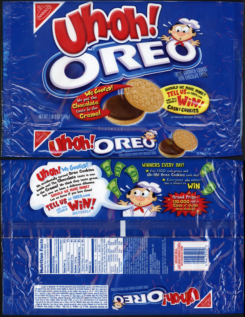 Nabisco  UhOh Oreo cookies package  20022003  This