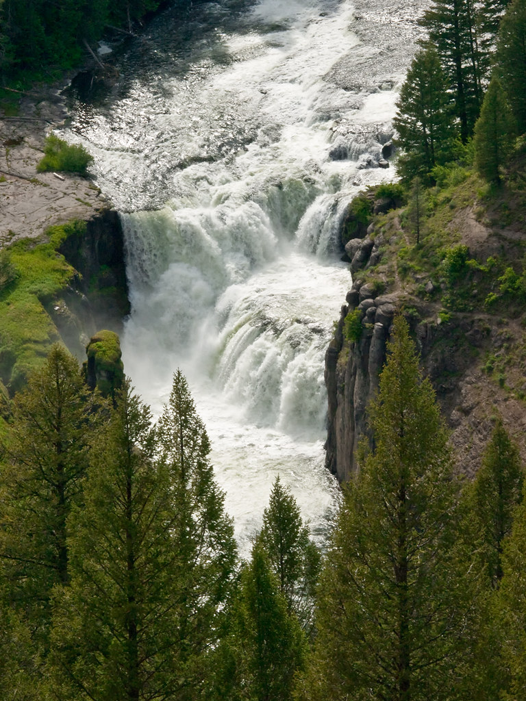 Lower Mesa Falls Idaho  This shot was taken at a focal