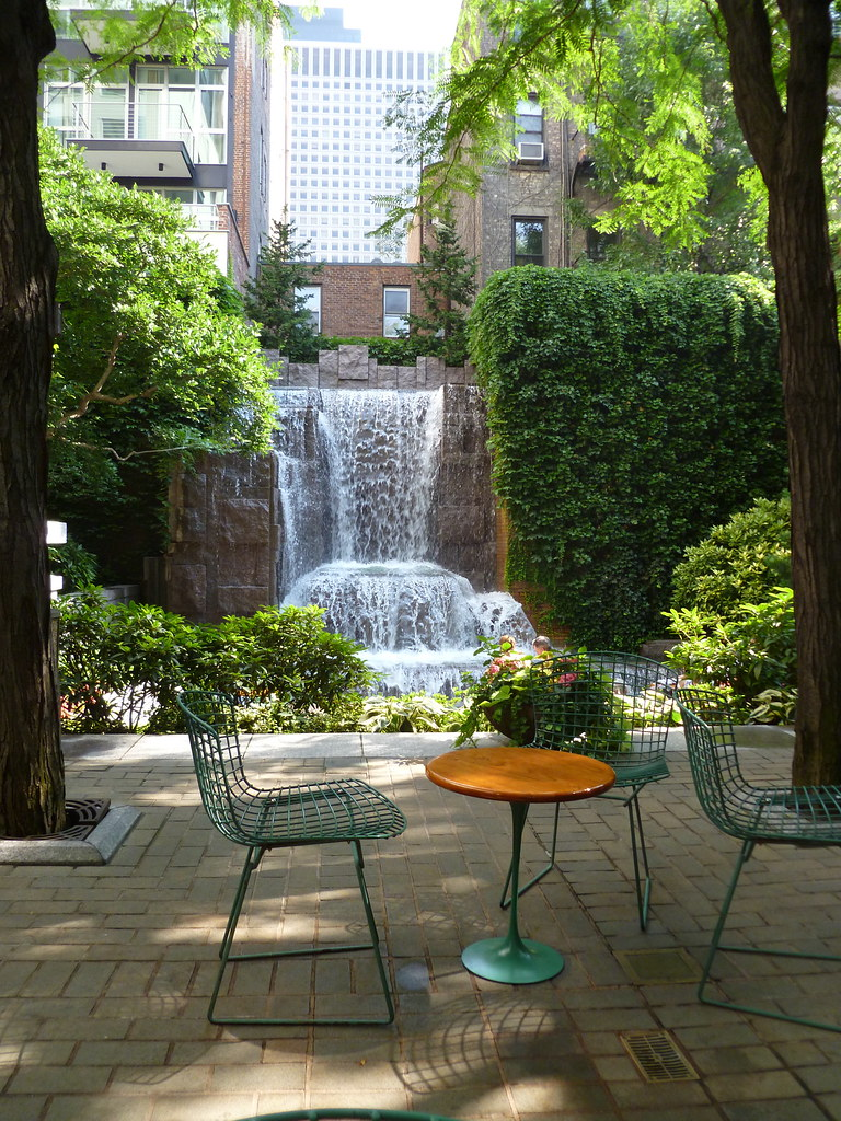 Table  Chairs Greenacre Park NYC  From Project for