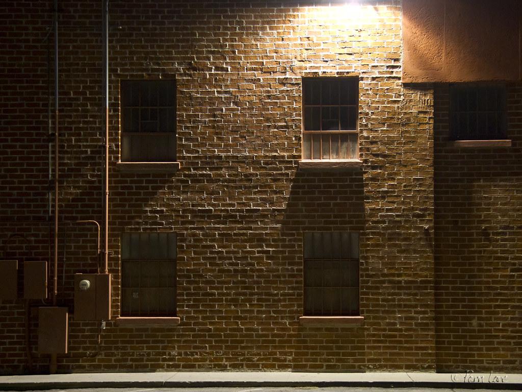 Brick Wall At Night Pam Lane Flickr