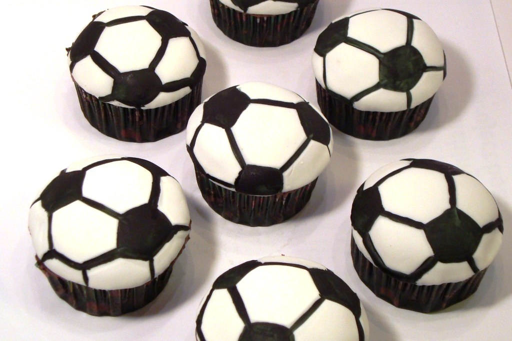 Soccer Cupcakes  Soccer Ball Cupcakes because it just felt   Flickr