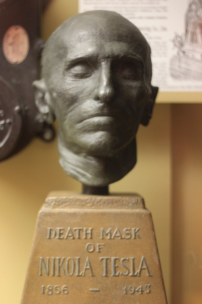 Nikola Tesla Death Mask  Nikola Tesla 18561943 is one