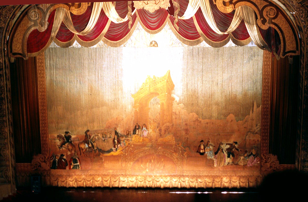 Los Angeles Theatre Stage  Curtain old downtown Los Ange