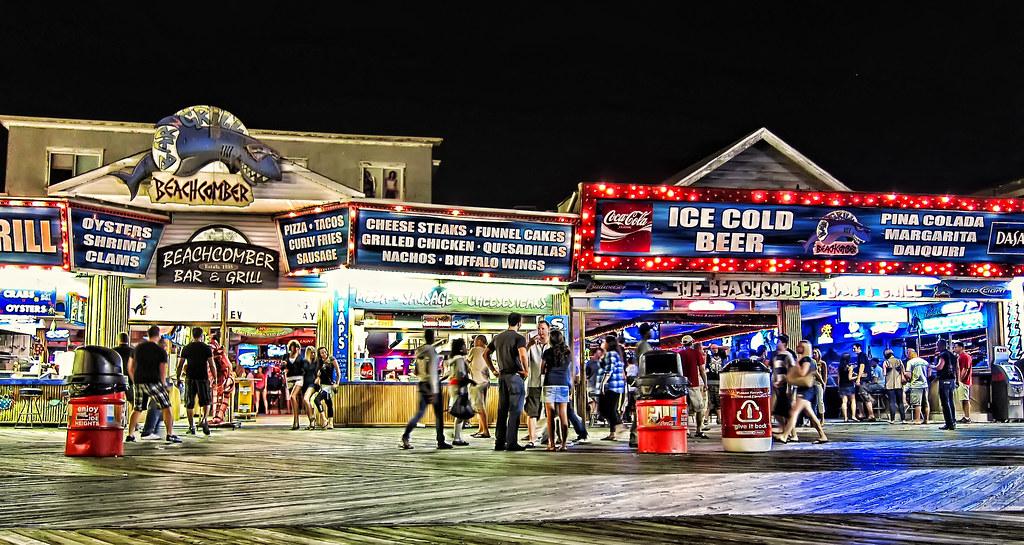 The Beachcomber Seaside Heights NJ  Around midnight