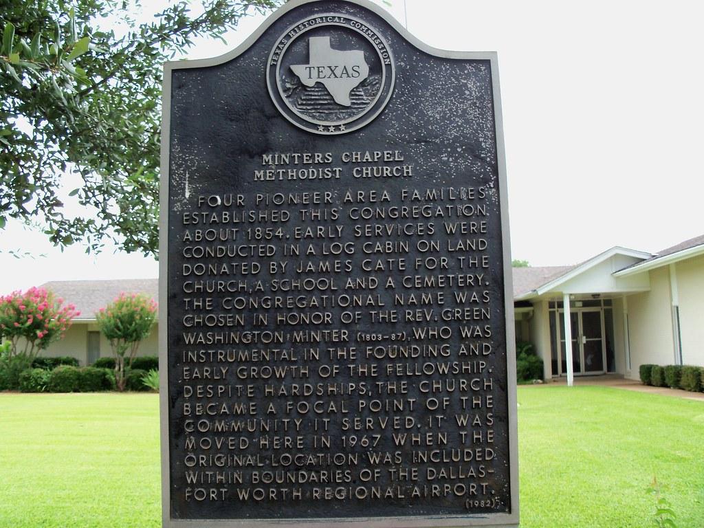 Minters Chapel Methodist Church Grapevine Texas Historic