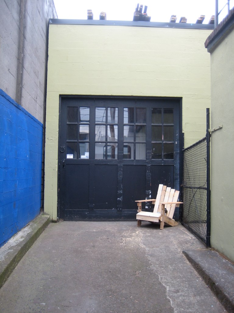 adirondack chairs portland oregon sleeping in a chair repurposed goods pallet o flickr by sheltondavis