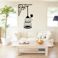 Bird in a cage - Vinyl Wall Art Decals | www.etsy.com ...