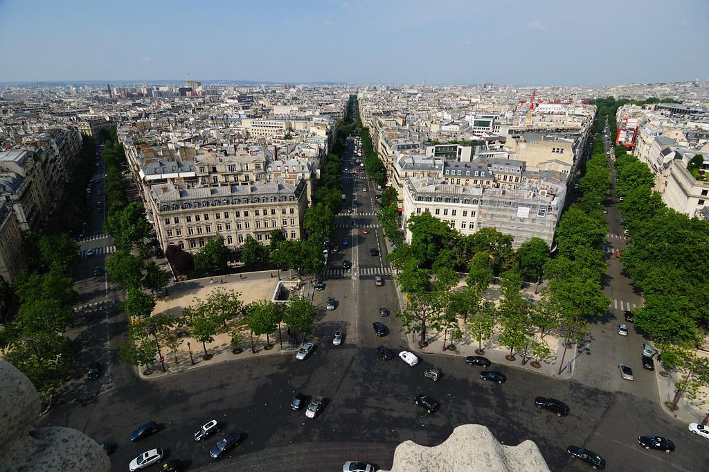 Plan Barón Haussmann, Paronamic view from the top of Arc de triomphe