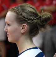 volleyball hair styles