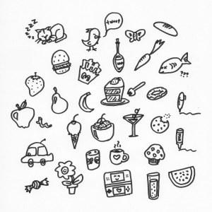 doodles draw desenhos sharpie colorir doodling icons lot
