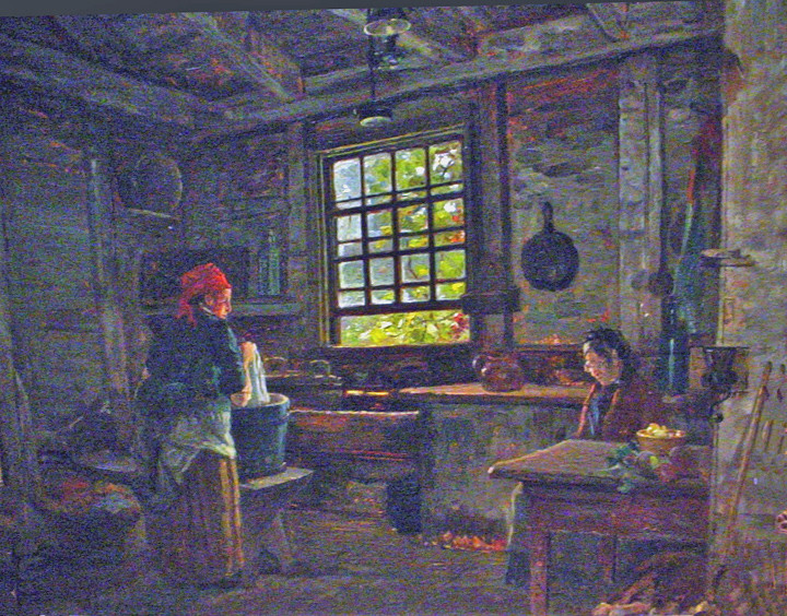 Old Colonial Wash Kitchen Old Eliot House Hyde Park MA