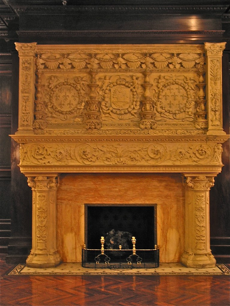 Grey Towers Castle 1893  carved marble fireplace  Flickr