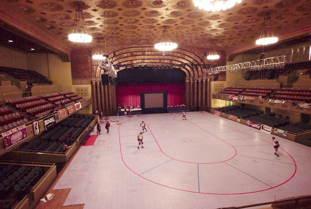 the Sacramento Memorial Auditorium as a venue for roller d