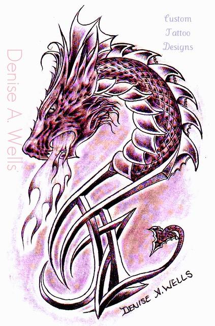 dragon tattoo design denise