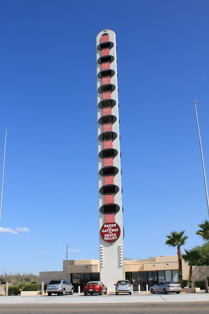 Giant Thermometer  BakerCA Will Herron a businessman
