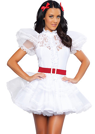 Sexy Scarlett OHara ruffle mini dress costume