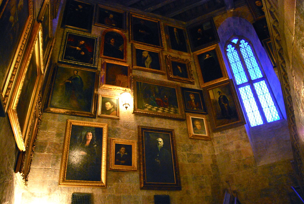 hogwarts interior  A hall of portraits and yes some of the  Flickr