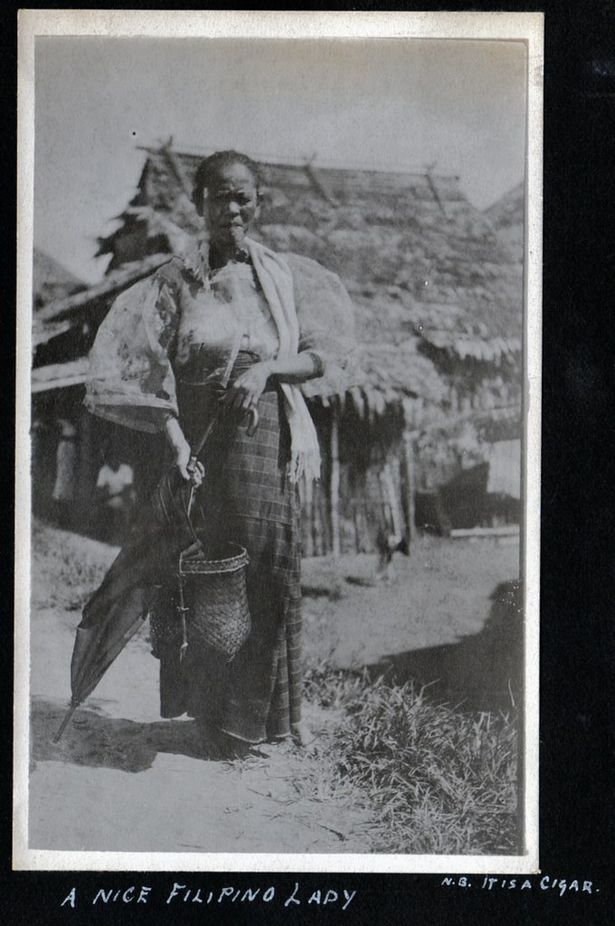 Vintage Photo of a Filipina  This Filipino woman is wearing  Flickr