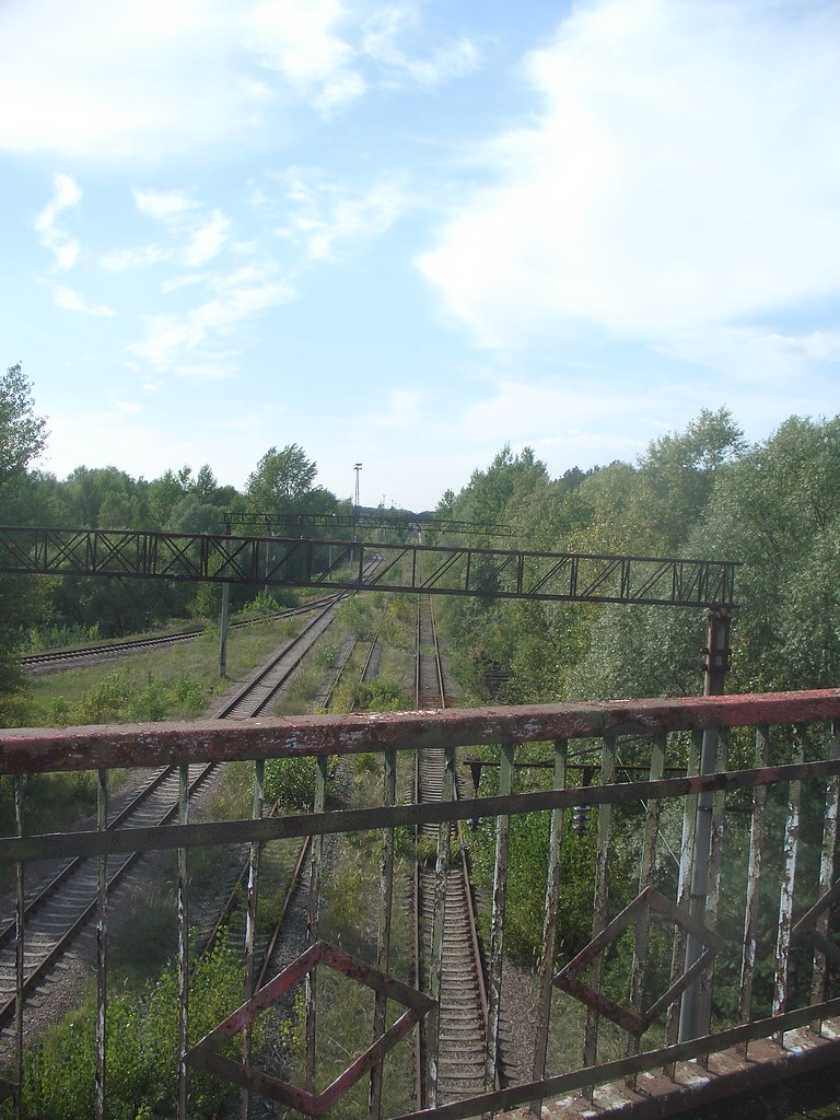 Railway under the bridge of death near Pripyat Chernob  Flickr
