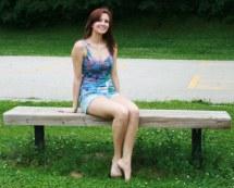 Sexy Barefoot Woman Model Sitting Brand