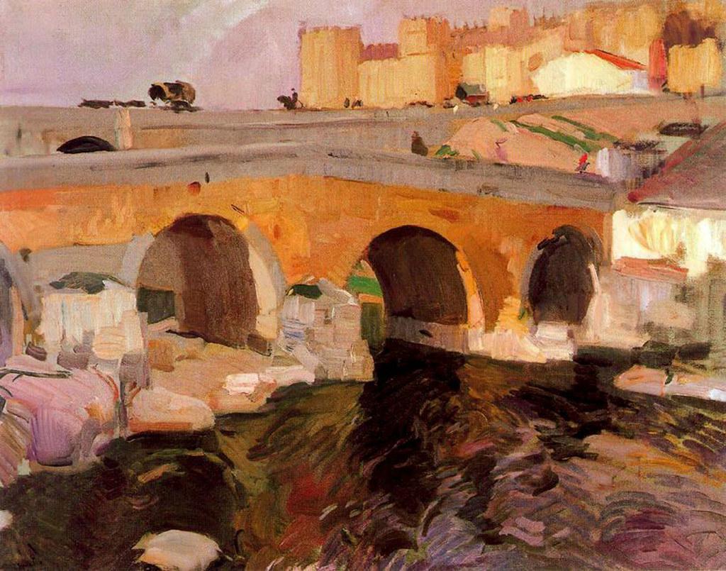 El Puente Viejo de vila Joaqun Sorolla  Joaqun
