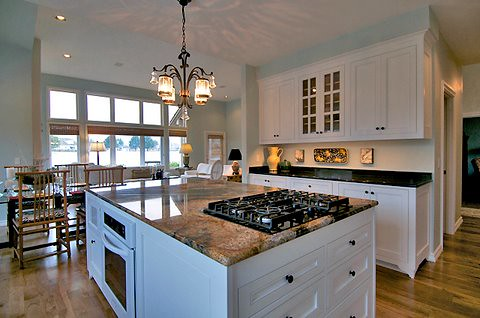 kitchen island with range color cabinets custom makeover complete flickr by sitka projects llc