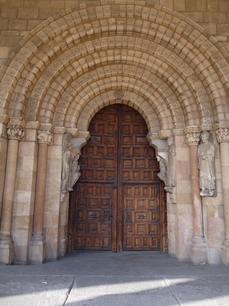 Romanesque south door of San Vicente Avila  San Vicente